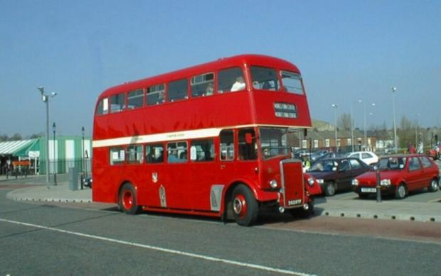 This 1961 double decker will be offering free rides to t