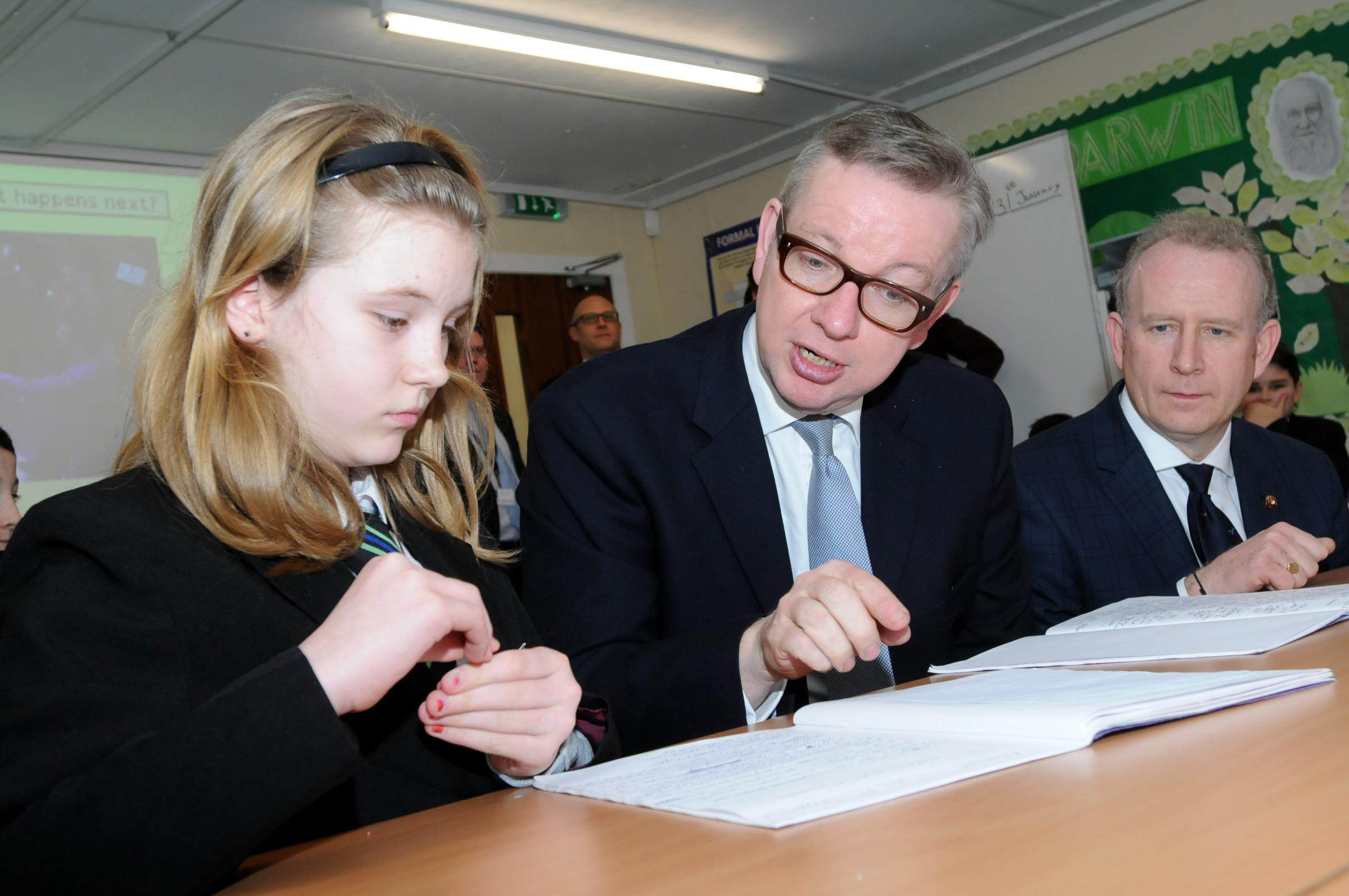 VIDEO: Education Minister Michael Gove visits Runcorn school today