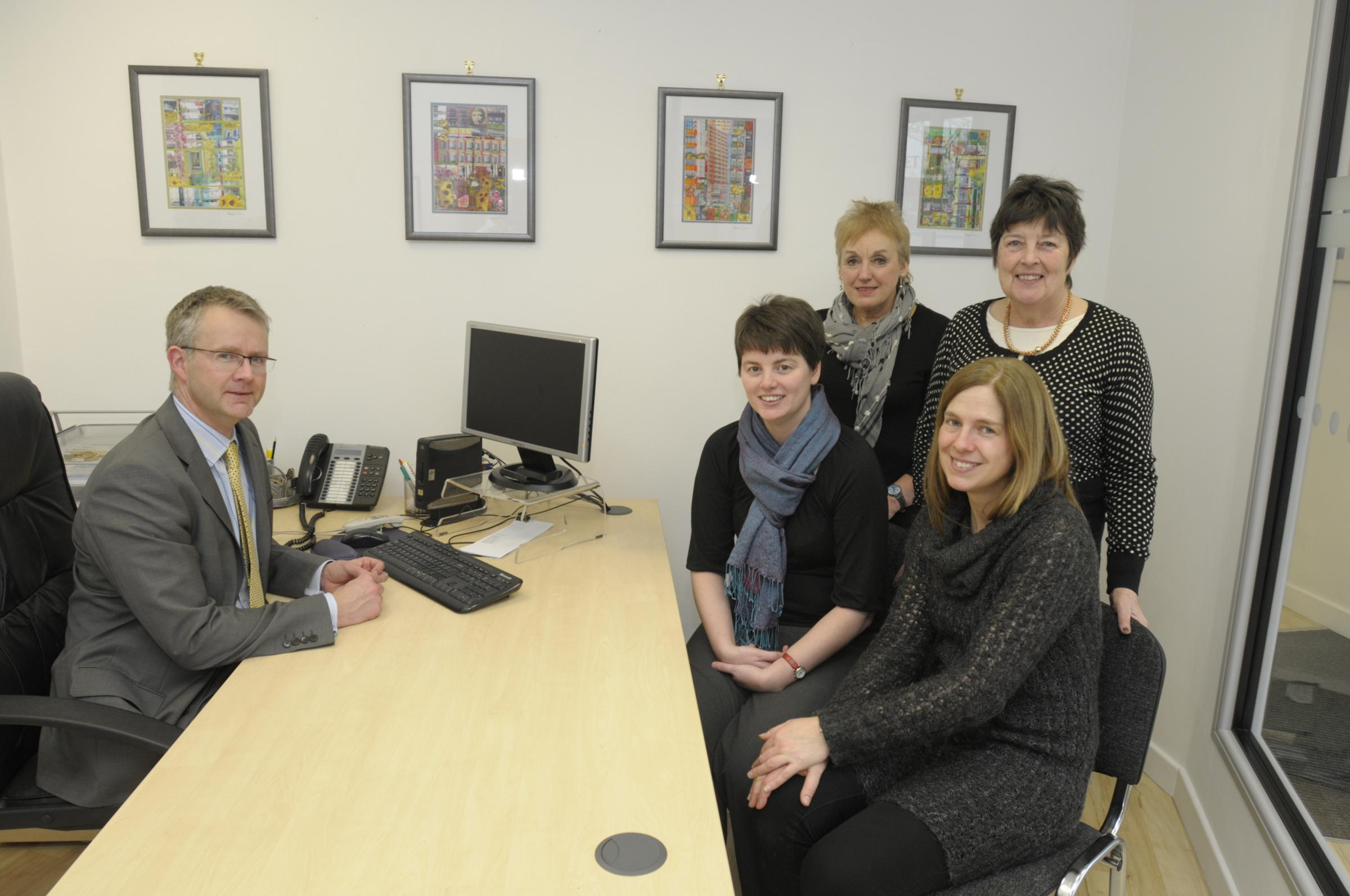 Artists exhibit their work at Runcorn solicitor's office
