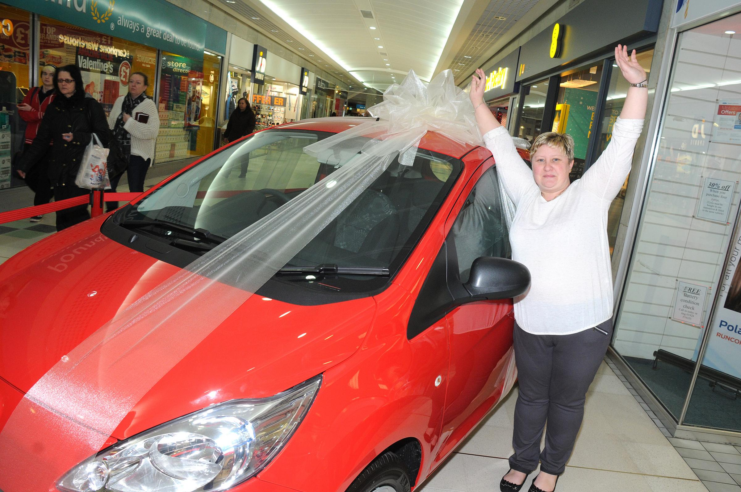 Mum-of-three wins new car at Runcorn Shopping Centre