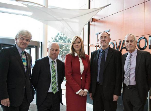 Gideon Ben-Tovim, chairman, Philip Dylak, director of innovation, Dr Liz Mear, chief Executive; Prof John Goodacre, medical director; Bruce Ash, vice chairman