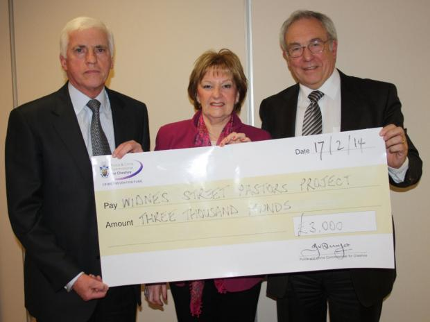 Widnes Street Pastors receive £3,000 from John Dwyer, Cheshire Police and Crime Commissioner