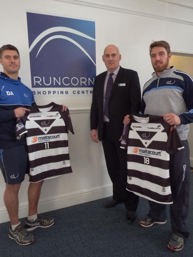 Runcorn and Widnes World: Runcorn Shopping Centre backing Vikings