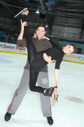 Sam Attwater and Vicky Ogden skating at Silver Blades in Widnes