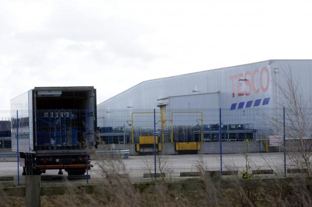The Tesco distribution centre in Widnes