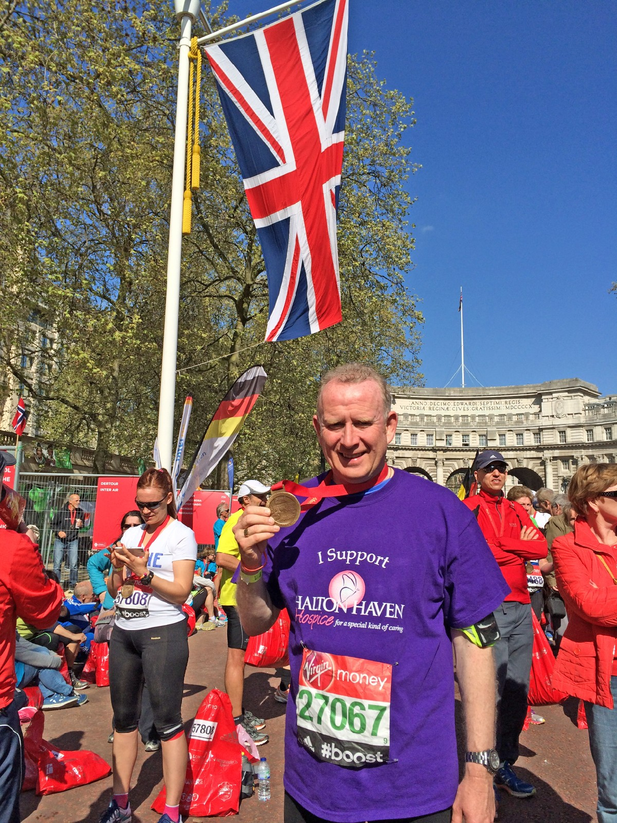 MP Graham Evans with his London Marathon medal