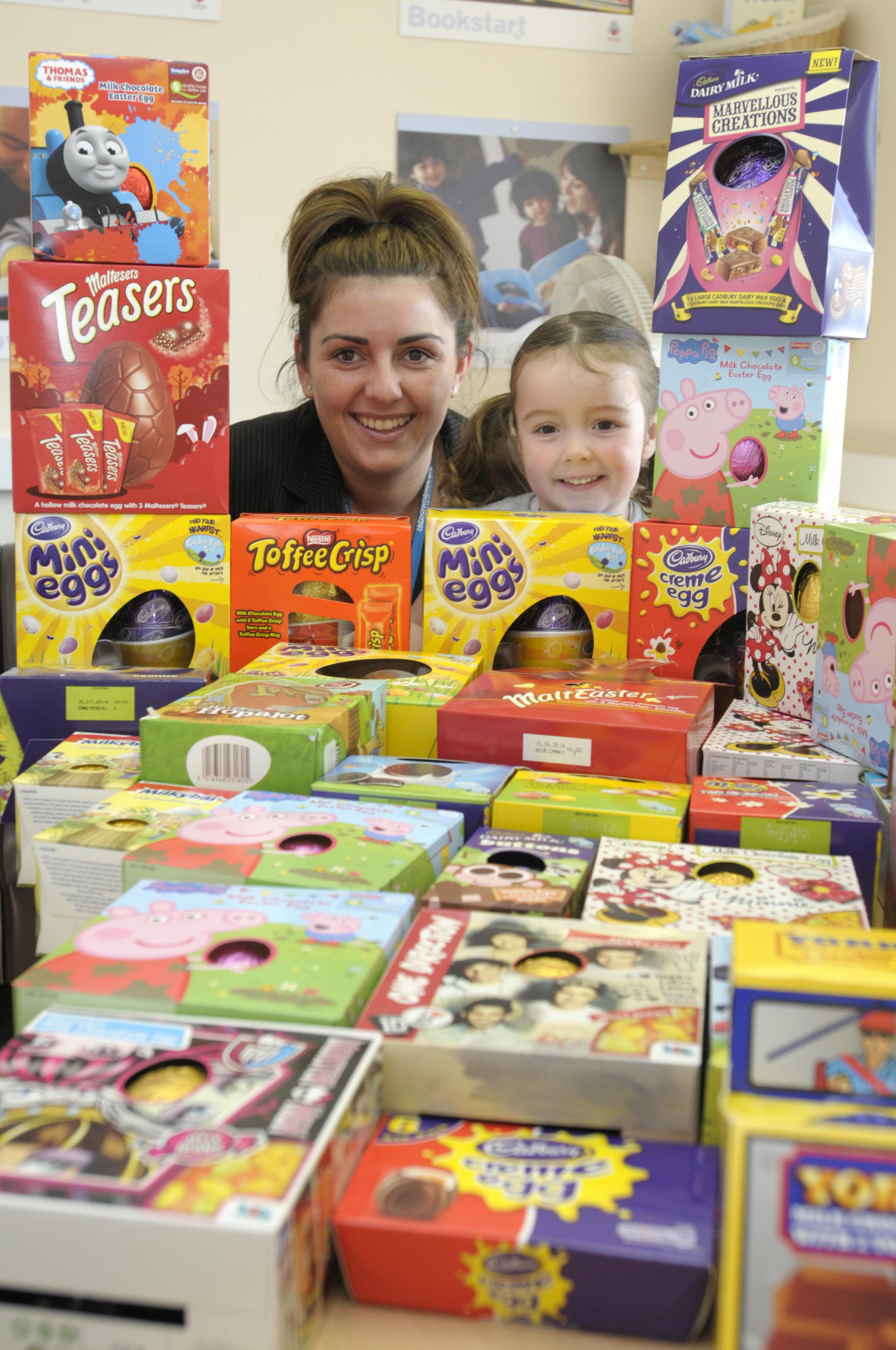 Runcorn traders collect hundreds of Easter eggs for children