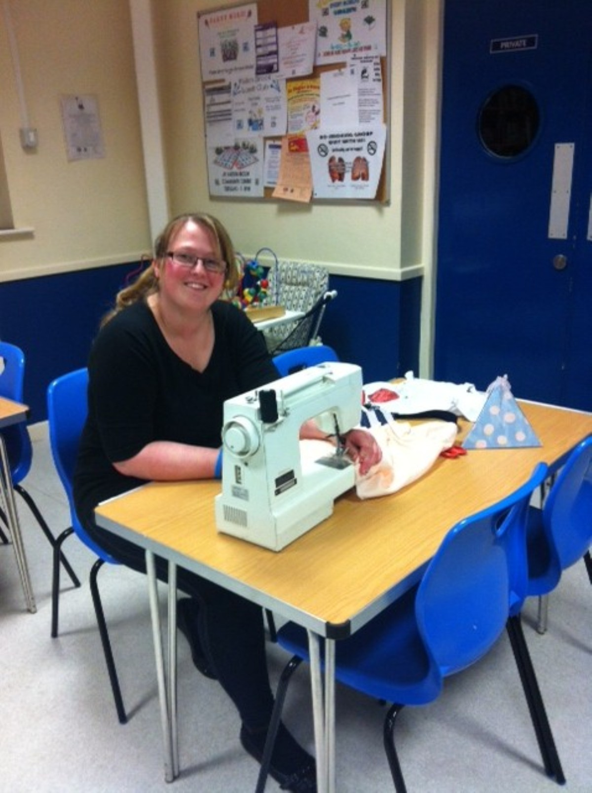 Rebecca Parkinson sewing the seeds of a new business venture