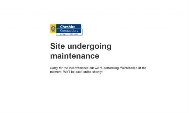 Cheshire Police website crashes
