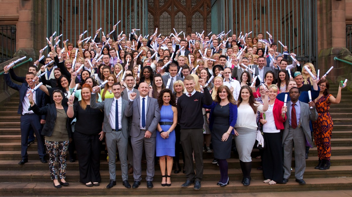 Apprentices after their graduation at Liverpool's Anglican Cathedral