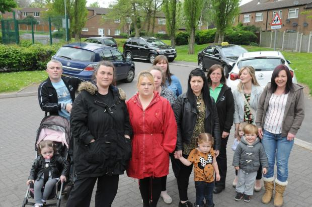 Rachel Pluger and other parents worried about road safety in Murdishaw