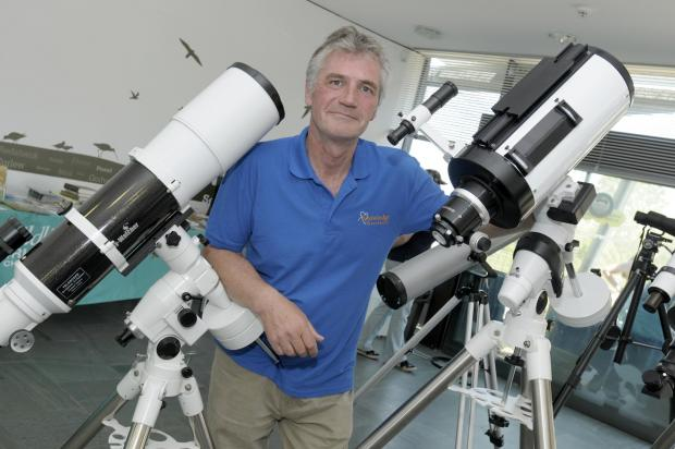Andrew Davies at the Knowledge Observatory in Wigg Island Visitor Centre