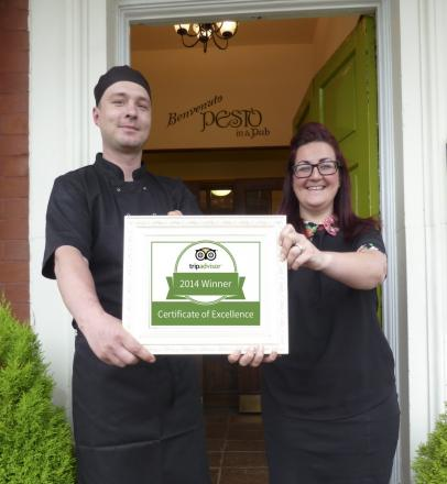 Chef Przemek Kusmierczyk and Melanie Mooney general manager of Pesto Widnes