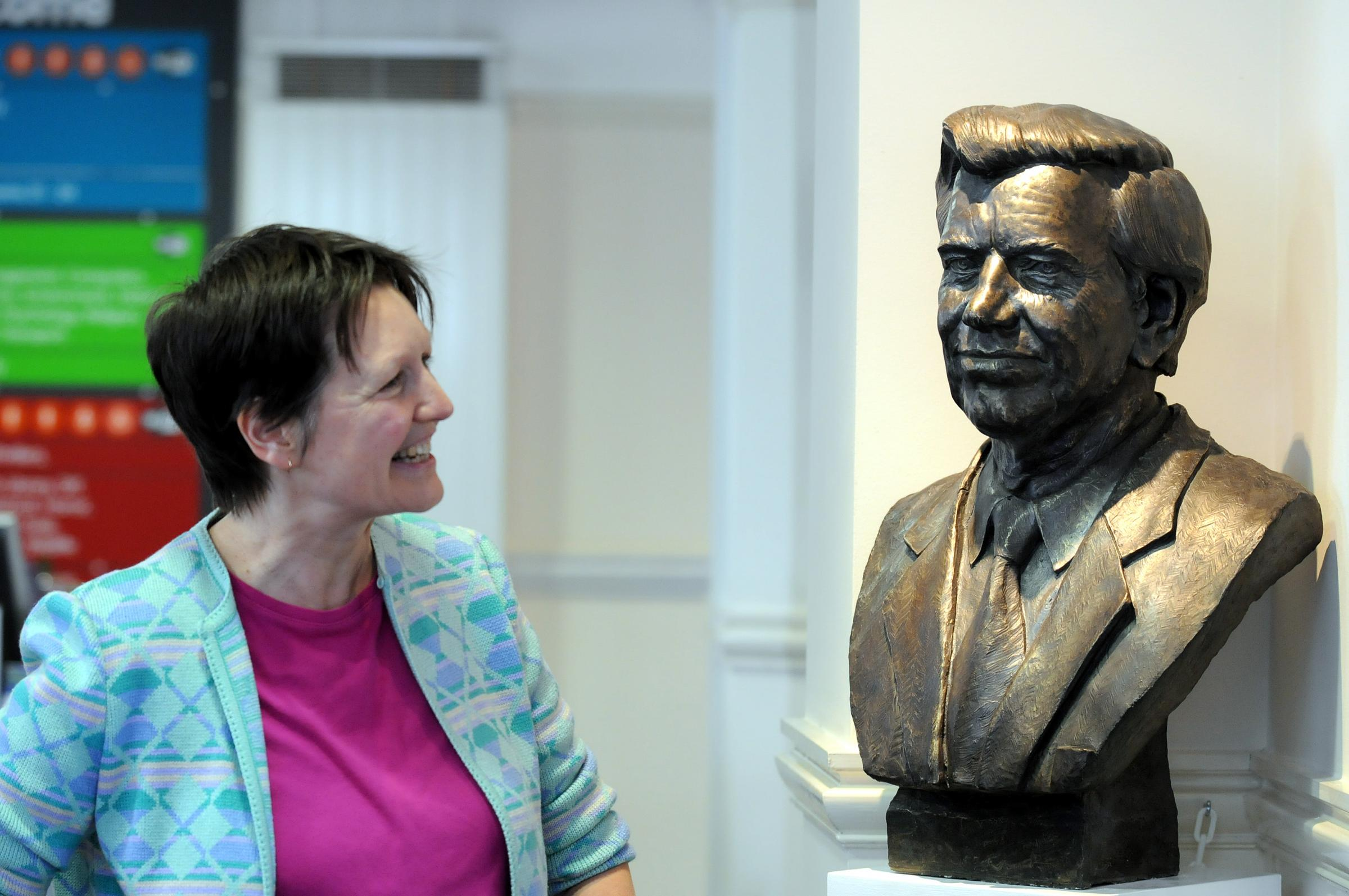 Sculpture of Widnes-born disability champion Lord Jack Ashley is unveiled