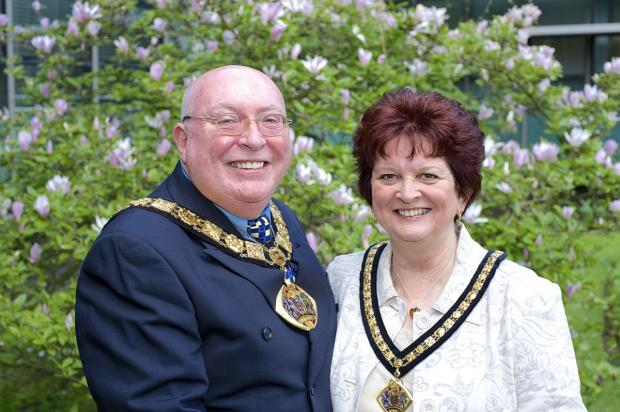 The Mayor and Mayoress of Halton, Clr Shaun Osborne and his wife, Della