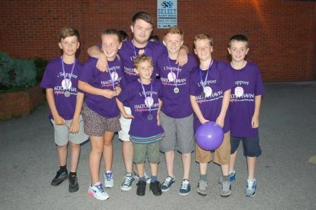 Jak Mills aged 12, Jess Smith aged 14, James Cawley aged 23, Tom Smith aged 10, Luke Cawley aged 14, George Clotworthy aged 12, Owen Kennington aged 12 at last year's Twilight Walk