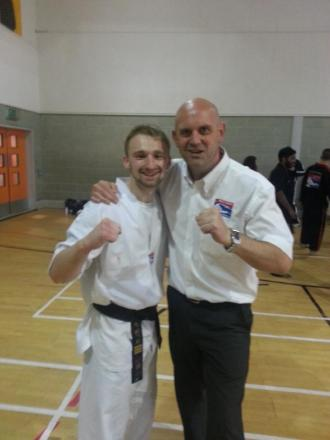 Mike Southern with his instructor Master Steve James