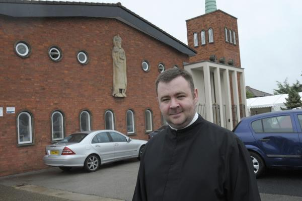 Runcorn and Widnes World: Fr Paul Vianney outside St Edward's Catholic Church