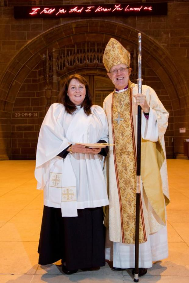 Runcorn and Widnes World: Laura Leatherbarrow and the Bishop of Warrington, Richard Black