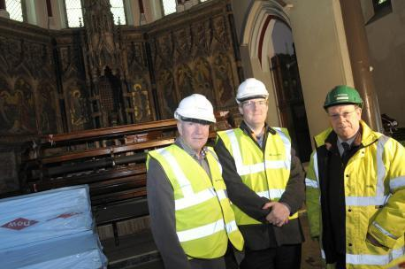Roger Harrison, Matthew Roberts and Dave Clark at the start of the restoration project