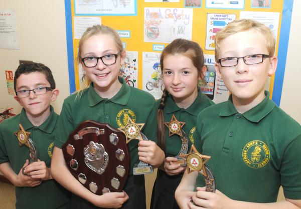 Award-winning junior safety officers at Lunts Heath Primary School