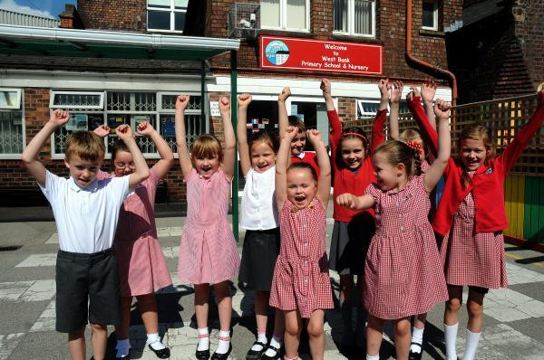 West Bank pupils celebrate their Ofsted inspection