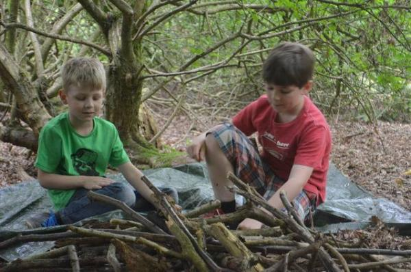 Children can have fun creating dens