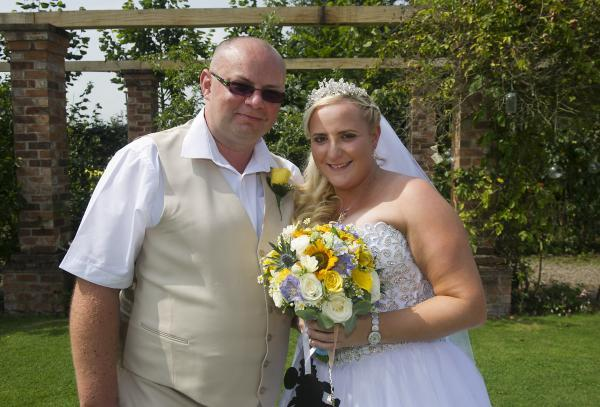 Jason and Kelly Massey on their wedding day
