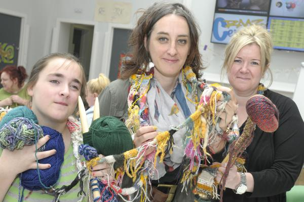 Halton residents express how they feel by knitting