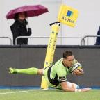 Runcorn and Widnes World: Northampton's James Wilson scored the opening try of the game against Saracens