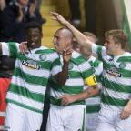 Runcorn and Widnes World: Celtic's Dedryck Boyata, left, headed in a corner from Kris Commons on Wednesday night