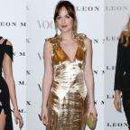 Runcorn and Widnes World: Strike a pose: Dakota Johnson, Karlie Kloss and Suki Waterhouse looked stunning at the Vogue 100 launch event