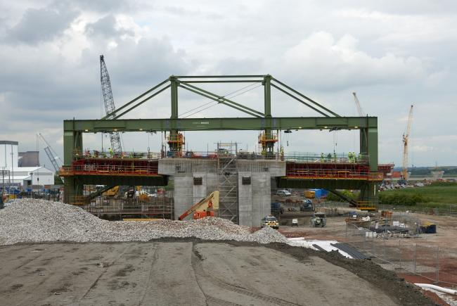Mersey Gateway bridge works