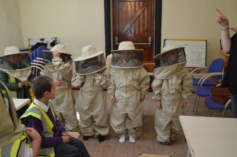 Pupils from Bridgewater Park spend a day at Norton Priory learning about bees