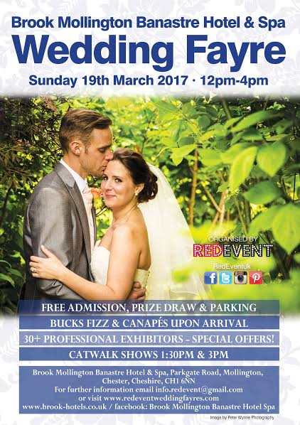 Chester & Cheshire Wedding Fayre at Brook Mollington Banastre Hotel & Spa