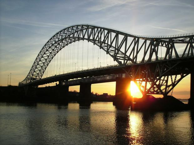 Lights switched off on Runcorn Widnes bridge in support of Earth Hour
