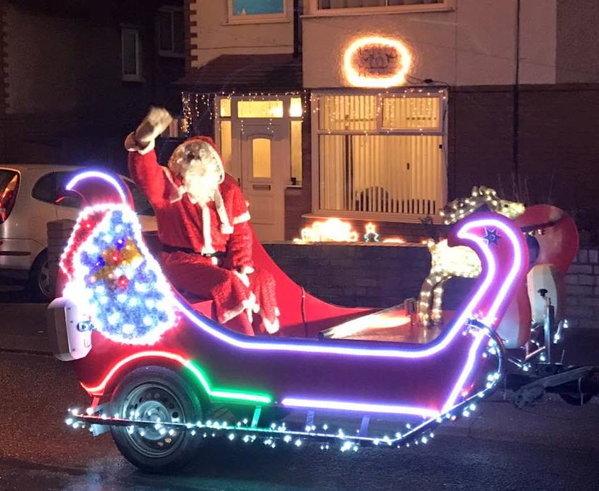 Santa's new float is riding round the streets of Runcorn