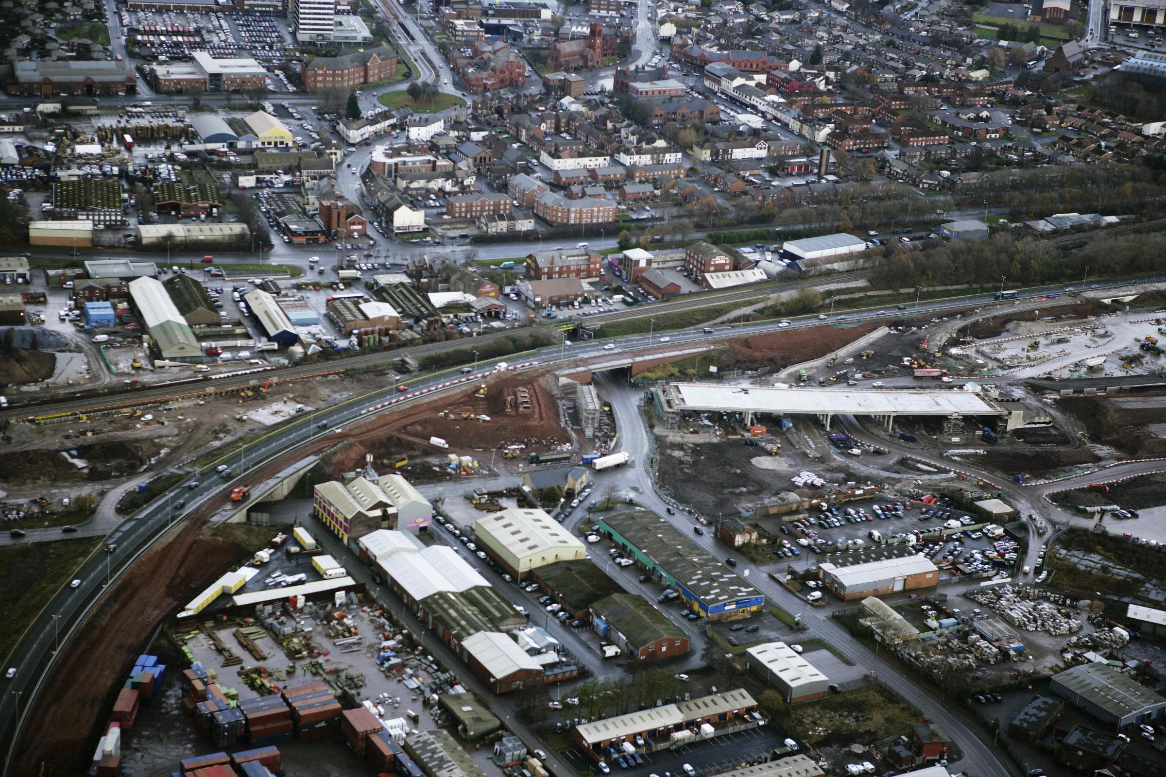 Construction of the new Widnes Loops viaduct
