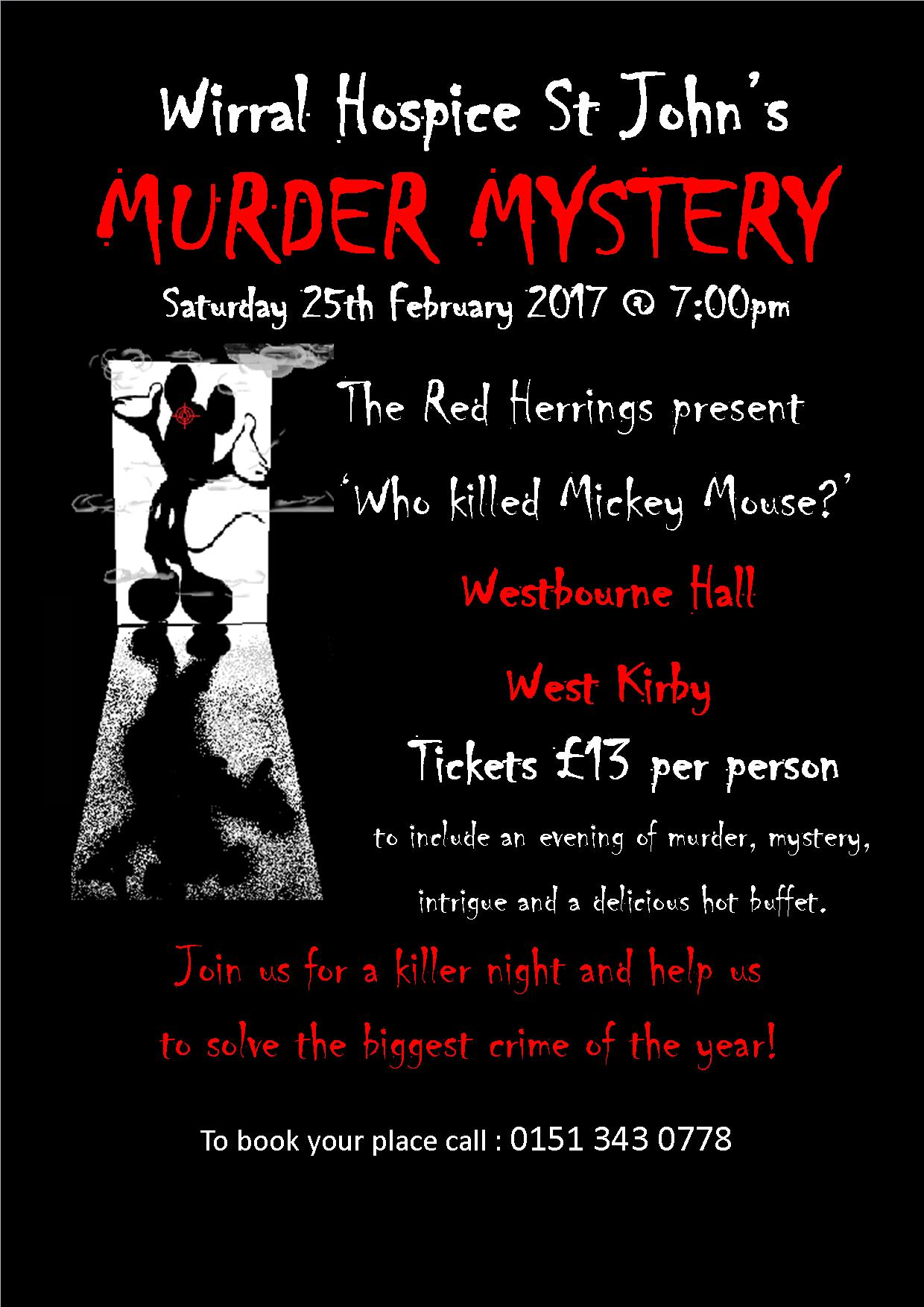 Wirral Hospice St John's Murder Mystery Evening