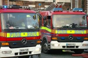 Firefighters tackle house fire on Shelton Close, Widnes