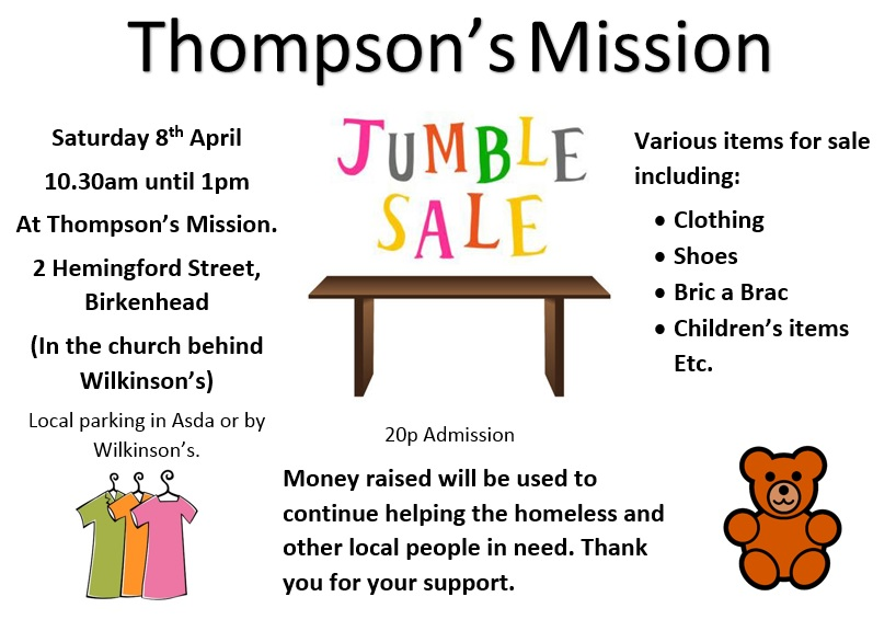 Thompson's Mission Jumble Sale
