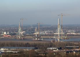 Mersey Gateway bridge deck reaches half way stage