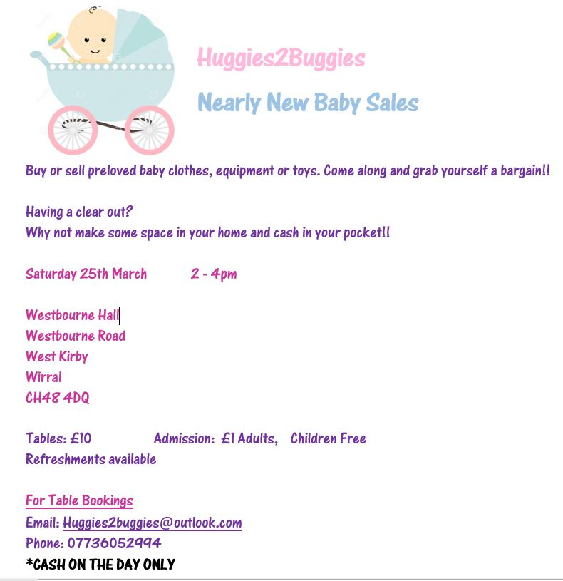 Huggies2Buggies Nearly New Baby Sales