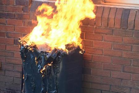 Wheelie bin torched in arson attack