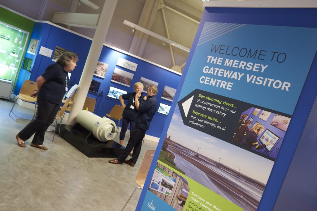 The two Mersey Gateway visitor centres are staffed by volunteers