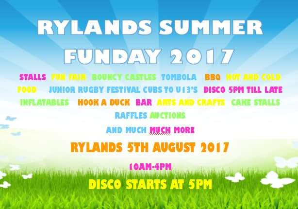 Rylands juniors Summer family fun day