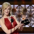 Runcorn and Widnes World: Nicole Kidman accepts the award for outstanding lead actress in a limited series or a movie for Big Little Lies (Chris Pizzello/Invision/AP)