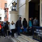 Runcorn and Widnes World: People queue outside Theatre Royal Drury Lane in London as auditions opened for the musical 42nd Street (John Stillwell/PA)