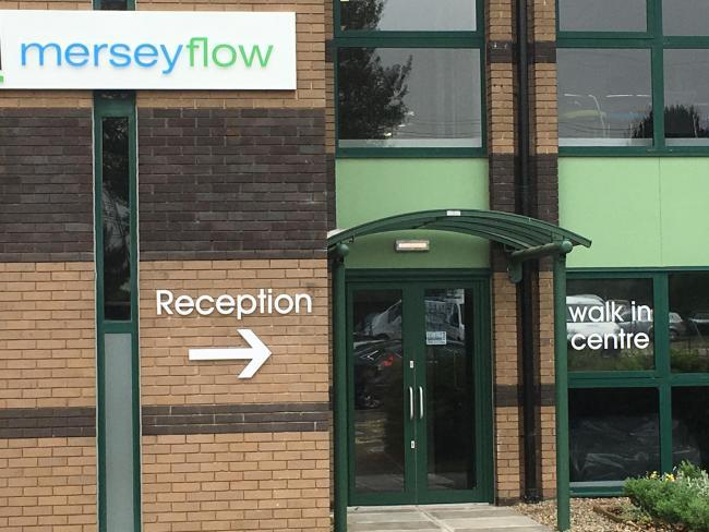 The Merseyflow walk-in centre at Manor Park in Runcorn