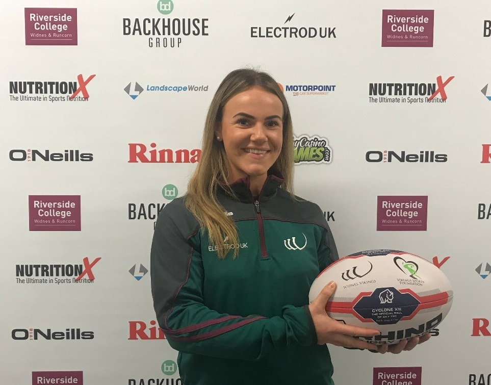 Photograph attached: Becky Chambers from Widnes Vikings' Community Team / Vikings Sports Foundation